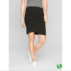 Athleta Kickback Faux Wrap Jersey Skirt Black XXS